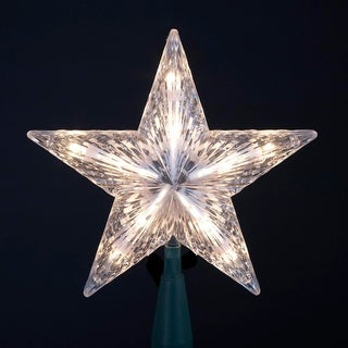 """7"""" Clear 5 Point Classic Star Christmas Tree Topper"""
