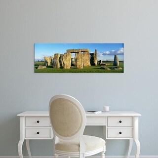Easy Art Prints Panoramic Images's 'Stonehenge, Wiltshire, England, United Kingdom' Premium Canvas Art