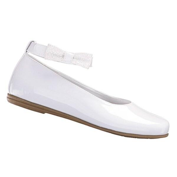 e39bc00fa7 Rachel Shoes Little Girls White Patent Bow Ankle Strap Dress Shoes