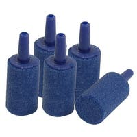 Unique Bargains 5 Pcs Blue 15mm Dia Cylinder Mini Air Bubble Stone for Aquarium