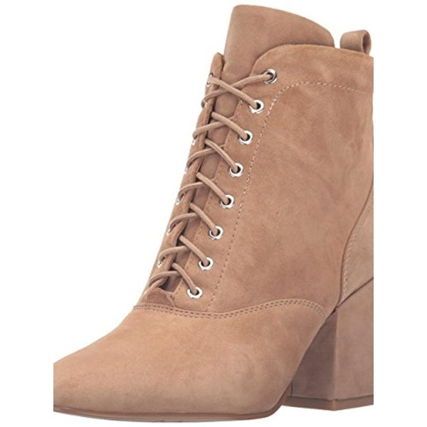 Sam Edelman Womens Tate Ankle Boots Suede Lace-Up Tan 7.5 Medium (B,M) - 7.5 medium (b,m)