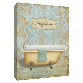 """PTM Images 9-154818  PTM Canvas Collection 10"""" x 8"""" - """"Salle de Bain II"""" Giclee Tubs Art Print on Canvas"""
