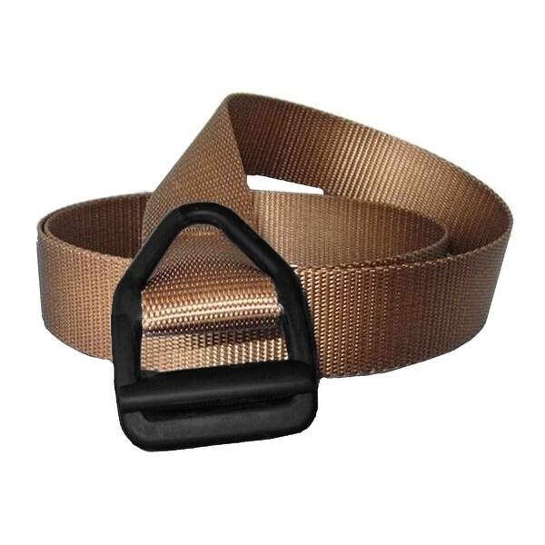 Bison Designs Last Chance Light Duty Black Buckle Belt - Coyote Brown