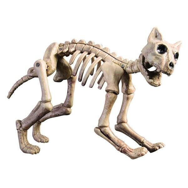 Skeleton Cat Halloween Decoration Prop