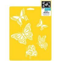 "Butterflies - Stencil Mania Stencil 7""X10"""