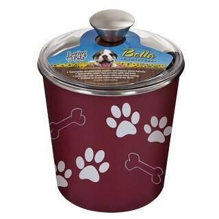 Loving Pets 7480 Bella Dog Bowl Canister, Merlot