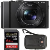 Panasonic LUMIX DMC-LX10K Digitral Camera w/ 64GB SD Card & Case