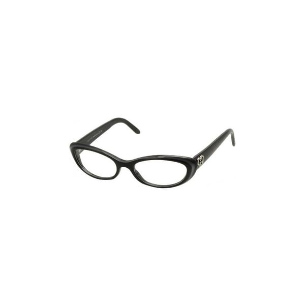 Gucci Womens Eyeglasses 3515 E6Q/17 Plastic Cat Eye Dark Grey Frames - dark grey black