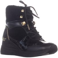 Michael Kors Liv Ankle  Lace Up Boots, Black