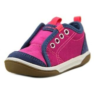Stride Rite Taasi Toddler Round Toe Leather Blue Walking Shoe