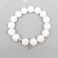 "White Jade Brook 7"" Bracelet - Thumbnail 1"