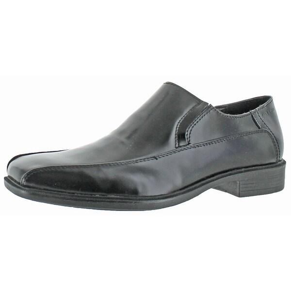 Calvin Klein Men's Fane Leather Slip-On Loafers Shoe