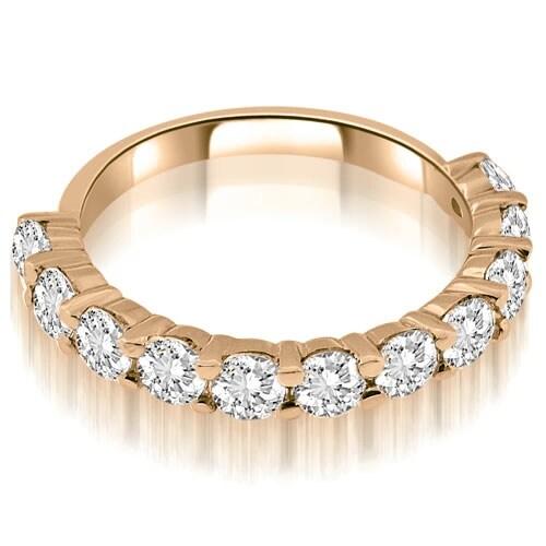 1.65 cttw. 14K Rose Gold Round Cut Diamond Wedding Band