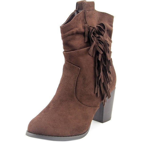 Wanted Memphis Women Round Toe Suede Mid Calf Boot