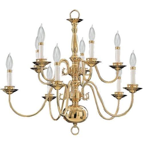 Quorum International Q6171-10 Williamsburg 10 Light Chandelier