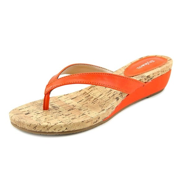 Style & Co Haloe Women  Open Toe Synthetic Orange Wedge Sandal