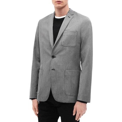 Calvin Klein Mens Two-Button Blazer Lightweight Slim Fit