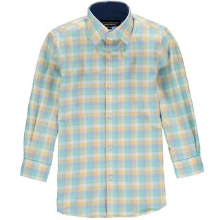 Leo & Zachary Boys 4-7 Chambray Plaid Dress Shirt