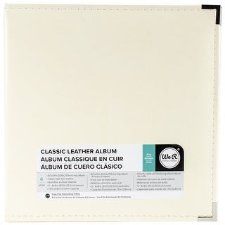 We R Memory Keepers Classic Leather 3-Ring Album - 8.5 x 11 inch, Vanilla