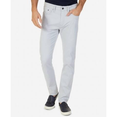 Nautica Light Gray Mens 30x32 Classic Straight Leg Stretch Jeans