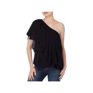 Catherine Malandrino Womens Magritte Peasant Top One Shoulder Fluttery (2 options available)