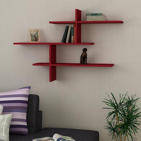 Webster Modern Wall Shelf 48.5'' x 31.5'' x 8.5'' / Wall Storage / Shelving Unit