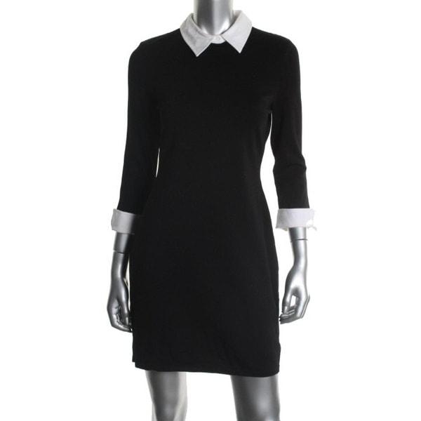 Lauren Ralph Lauren Womens Petites Casual Dress Peter Pan Collar - ps