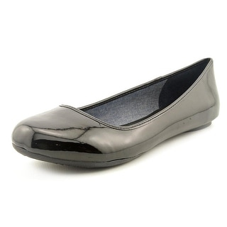 Dr. Scholl's Friendly Women Round Toe Synthetic Black Flats