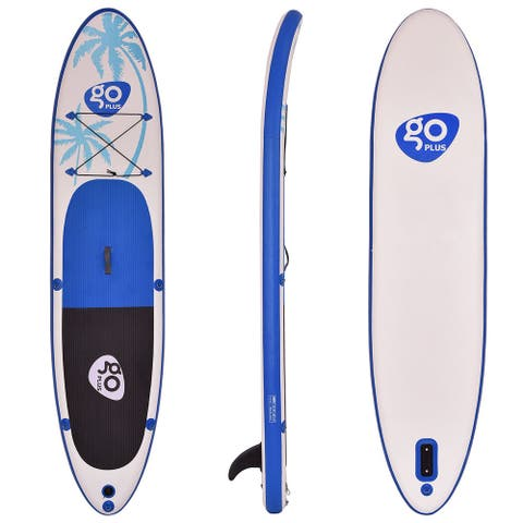 Goplus 11' Inflatable Standup Paddle Board SUP with Fin - Blue