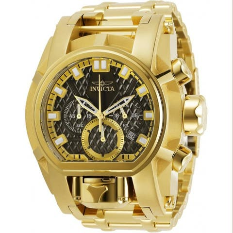 Invicta Men's 31553 'Bolt' Zeus Gold-Tone Stainless Steel Watch - Black