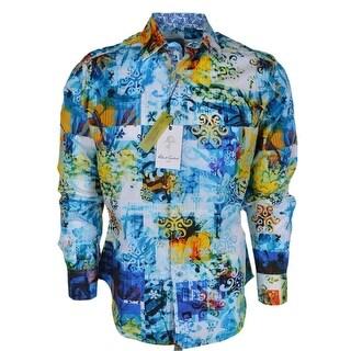 Robert Graham Men's TRENKLE Classic Woven Button Down Sports Dress Shirt