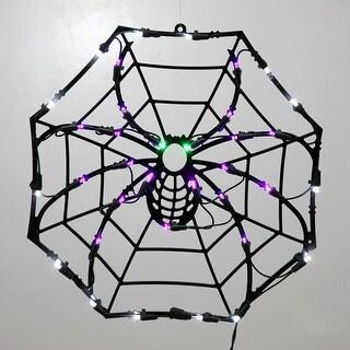 "35Lt LEDSpider Web Window Decor 17x17"""