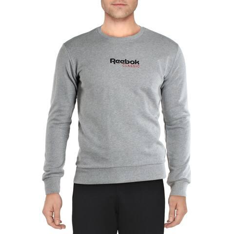 Reebok Mens Classic Gold Sweatshirt Fitness Running - Medium Grey Heather