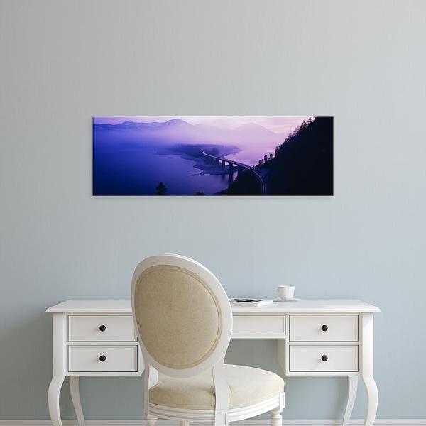 Easy Art Prints Panoramic Images's 'Twilight road Germany' Premium Canvas Art