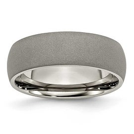 Chisel Stone Finish Titanium Ring (7.0 mm)