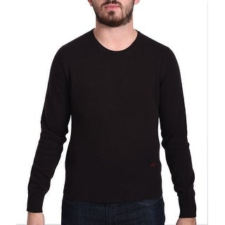 Valentino Men's Crew Neck Sweater Dark Brown