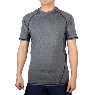 Quick-drying Short Sleeve Clothes Outdoor Workout Sports T-shirt Gray M