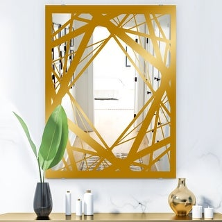 Designart Capital Gold Jangle 3 Glam Mirror Modern Accent Mirror On Sale Overstock 28004030