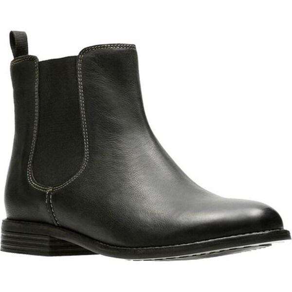 4fc308f9127 Clarks Women  x27 s Maypearl Nala Chelsea Boot Black Full Grain Leather