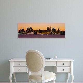 Easy Art Prints Panoramic Images's 'Buildings at the waterfront, Philadelphia, Pennsylvania, USA' Premium Canvas Art