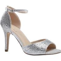 Pink Paradox London Women's Mira Ankle Strap Sandal Silver Glitter