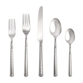 Link to Fortessa Solitaire 18/10 Stainless Steel Hollow Handle Flatware 20 Piece Place Setting, Service for 4 Similar Items in Flatware