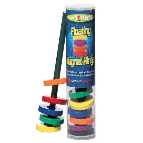 (6 Ea) Floating Magnet Rings Ages 3 & Up