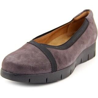 Clarks Daelyn Hill Women Round Toe Suede Purple Loafer