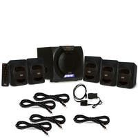 Acoustic Audio AA5230 Bluetooth 5.1 LED Speaker System Optical In & 5 Ext Cables