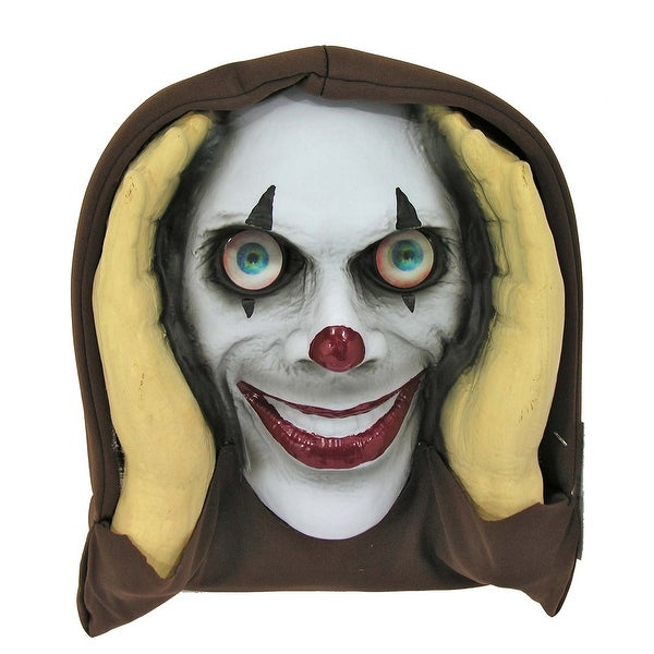 Scary Peeper Deluxe Halloween Décor: Clown (Lenticular Eyes)