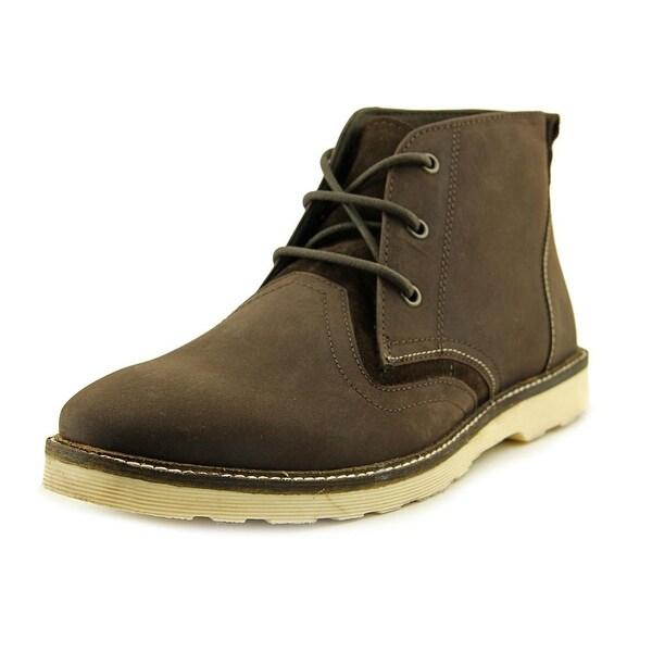 Crevo Cray Men Round Toe Leather Brown Boot