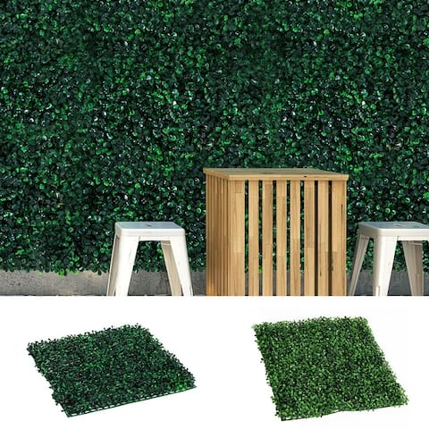 Outsunny Artificial Boxwood Milan Grass Mats (Pack of 12)