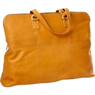 CLAVA Leather Aviator Travel Tote Tan - US One Size (Size None)