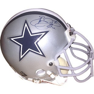 Emmitt Smith signed Dallas Cowboys Riddell Authentic Mini Helmet- Beckett Hologram